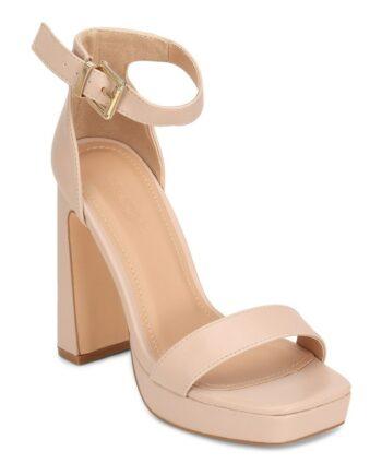 Diana Platform Sandals - Nude