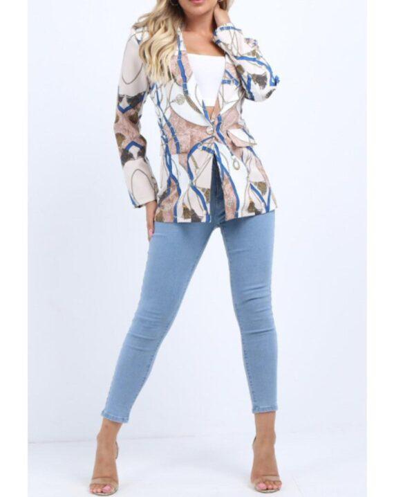 Paige Chain Print Blazer