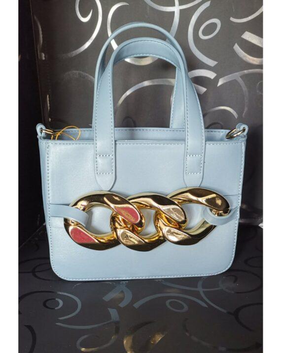 Chain Detail Mini Grab Bag - Blue