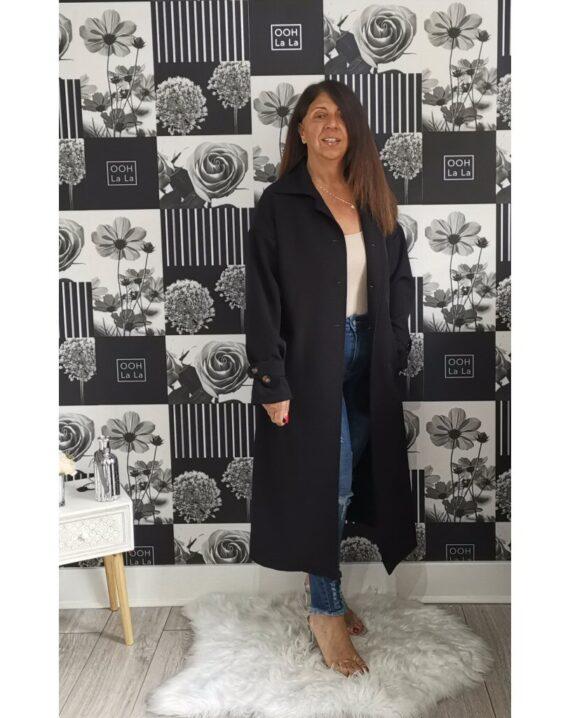Maria Trench Coat - Black