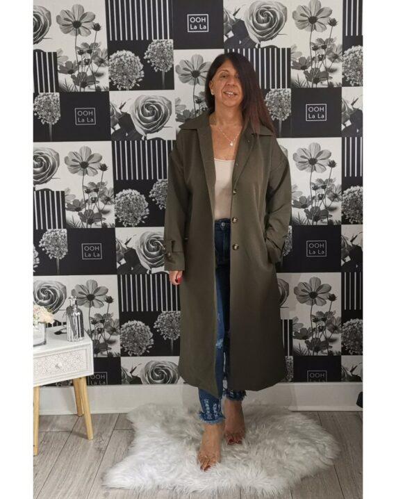 Maria Trench Coat - Khaki