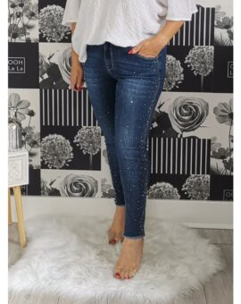 Grace High Waisted Stretch Studded Jeans