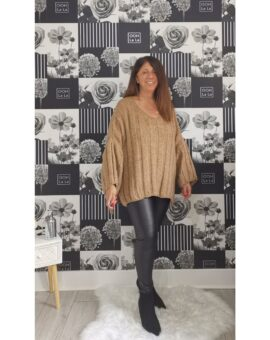 Brooke Oversized Jumper - Camel