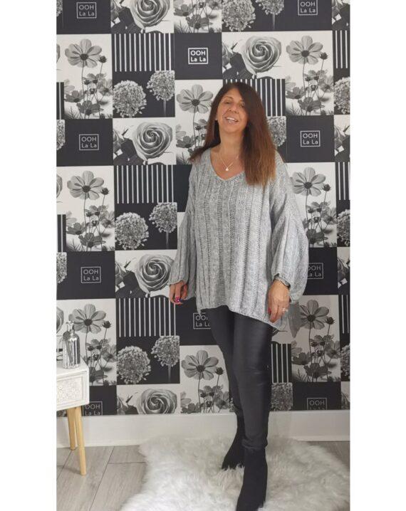 Brooke Oversized Jumper - Grey