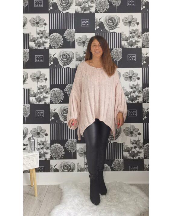 Brooke Oversized Jumper - Pink