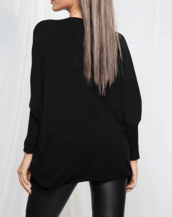 Sara Skull Soft Knit Jumper - Black