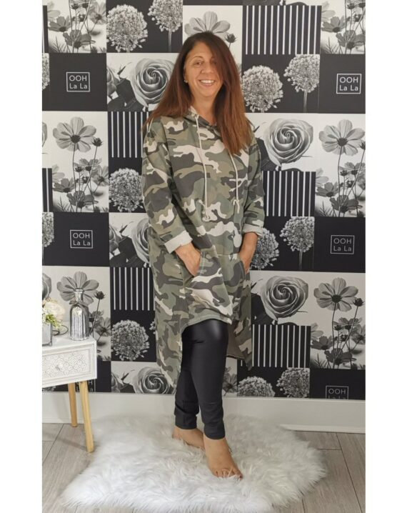 Casandra Camouflage Hooded Top