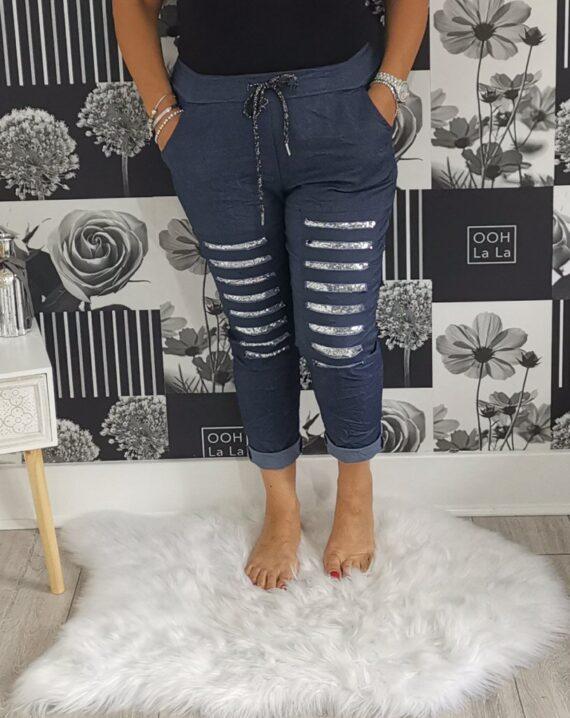Lydia Sequin Stretch Magic Trousers