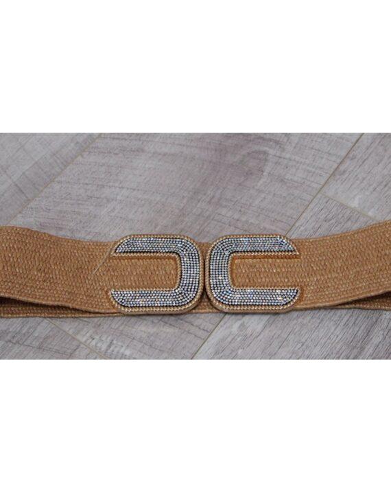Tanya Diamante CC Belt - Sand/Gold
