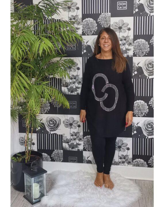 Wendy Studded CC Lounge Set - Black