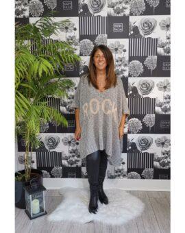 Amy Rock Luxury Poncho - Grey