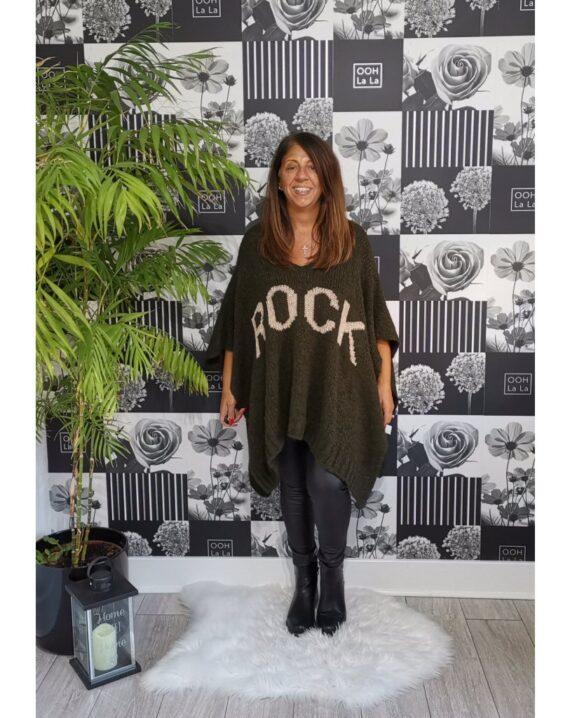 Amy Rock Luxury Poncho - Khaki